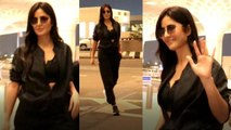 Katrina Kaif flaunts her sporty look at airport; Watch video | FilmiBeat