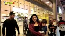 Spotted: Katrina Kaif & Sunny Leone with Hubby Daniel & kids at the Airport