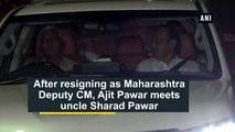 After resigning as Maharashtra Deputy CM, Ajit Pawar meets uncle Sharad Pawar