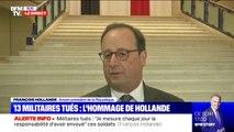 """Militaires morts au Mali: """"La France ne peut pas rester seule dans cette épreuve"""" (François Hollande)"""