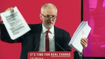 Jeremy Corbyn reveals dossier 'confirming' NHS is for sale