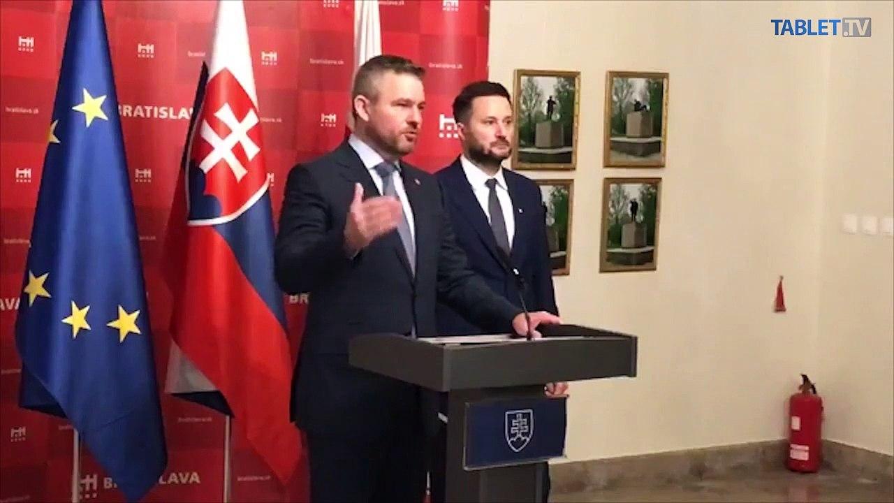 ZÁZNAM: Brífing premiéra P. Pellegriniho a primátora Bratislavy M. Valla