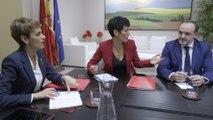 Reunión de María Chivite con Navarra Suma