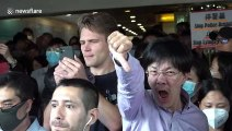Hong Kong demonstrators stage another lunchtime protest