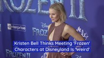 Kristen Bell And Meeting Characters At Disneyland