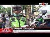 Petugas Awasi Jalur Khusus Sepeda