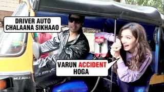 Varun Dhawan LEARNING To Drive Auto Rickshaw With Shraddha Kapoor and Nora Fatehi | Street Dancer