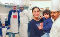 Taimur Ali Khan Makes Ice Cream For Mommy Kareena Kapoor Khan As The Duo Don A Chef's Hat