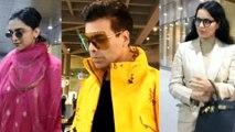 Spotted Karan Johar, Deepika Padukone and Kangana Ranaut at the Airport