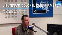 Lieutenant-Colonel Karl Flambry, commandant en second du 5e RHC de Pau, invité de France Bleu Béarn