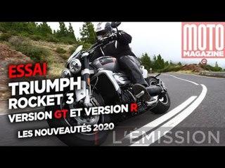 TRIUMPH ROCKET 3 GT et R 2020 - les grosses bêtes