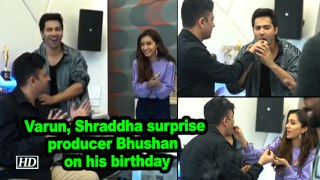 Varun, Shraddha surprise producer Bhushan Kumar on his birthday
