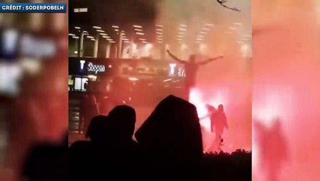 Quand des supporters de Malmo brulent la statue de Zlatan Ibrahimovic