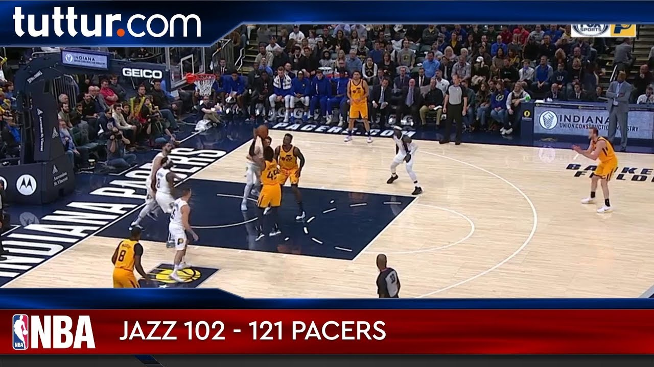 Utah Jazz 102 - 121 Indiana Pacers