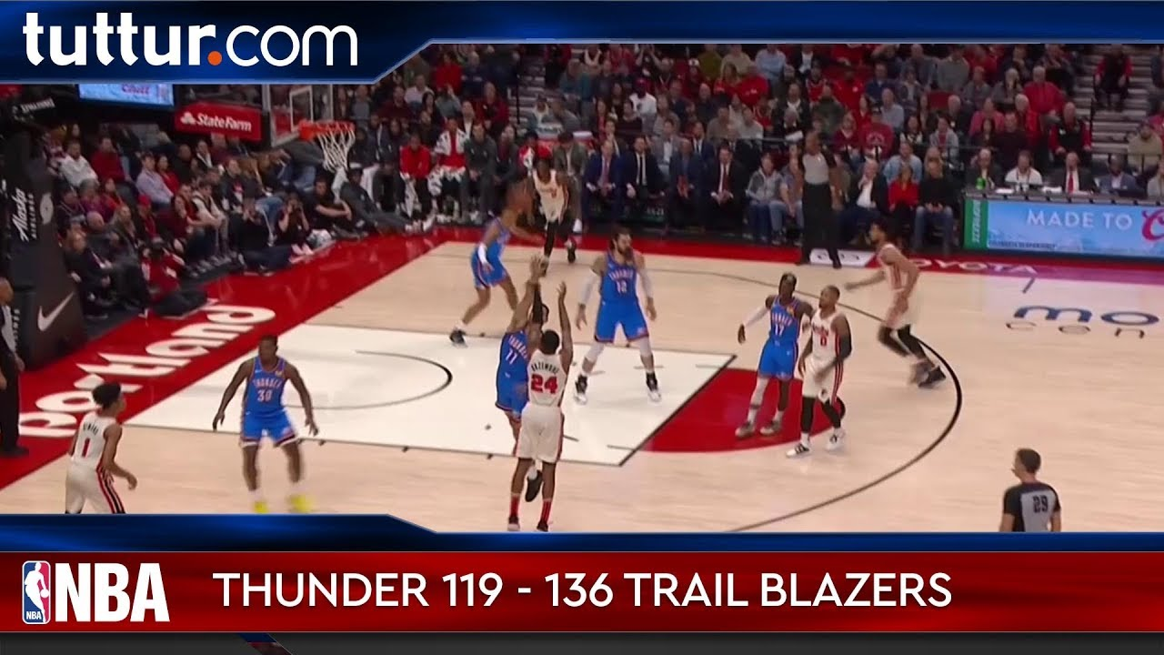 Oklahoma City Thunder 119 - 136 Portland Trail Blazers