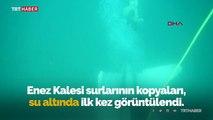 Edirne'de bulunan tarihi eserlerin kopyaları denize batırıldı