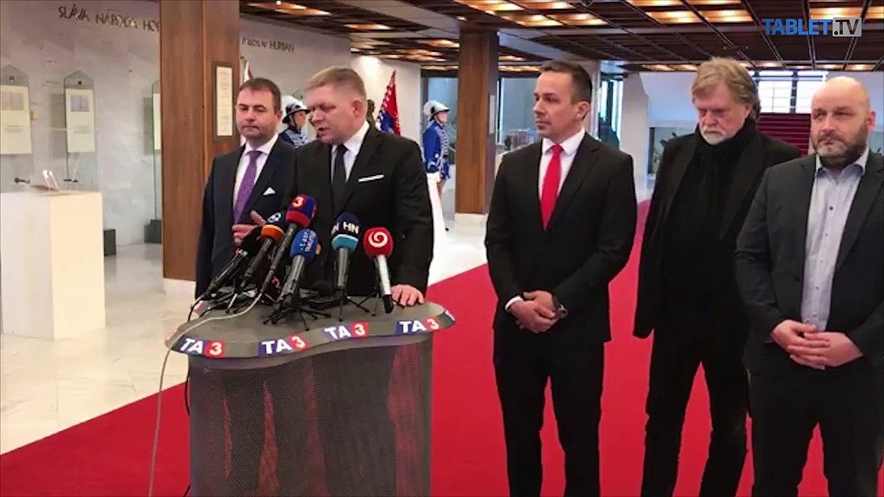 ZÁZNAM: TK predsedu strany Smer – sociálna demokracia Roberta Fica
