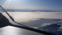 Zaïd a filmé les Alpes depuis sa cabine de pilote. Dans l'avion, 90 passagers.