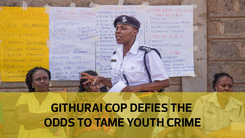 Githurai cop defies the odds to tame youth crime