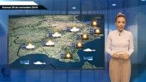 El pronóstico del tiempo para el viernes 29.