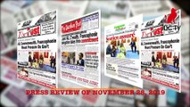 CAMEROONIAN PRESS REVIEW OF NOVEMBER 28, 2019