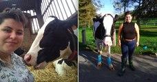 Malgré ses revenus plus que modestes, cette jeune femme rachète une vache et lui évite l'abattoir