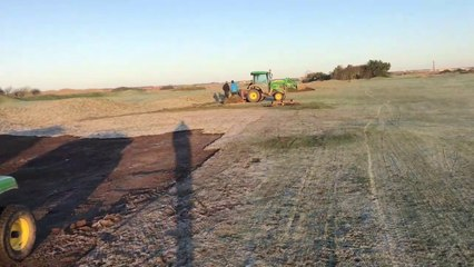 Winter Ground Maintenance at St Annes Old Links Golf Club 4th Hole
