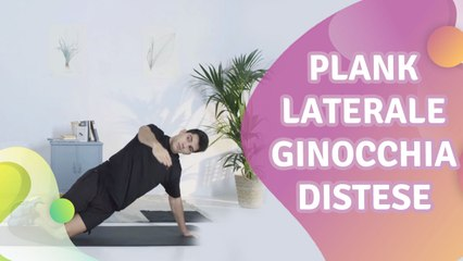 Plank laterale: ginocchia distese - Vivere più Sani