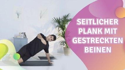 Seitlicher Plank mit gestreckten Beinen - Besser gesund Leben