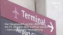Berliner Pannenflughafen BER soll jetzt am 31. Oktober 2020 öffnen