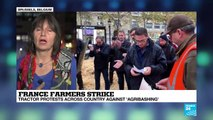 """France farmers strike: tractor protests across country against """"agribashing"""""""