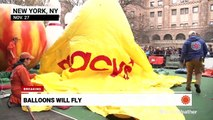 Harsh winds won't stop balloons from flying at Macy's Thanksgiving Day Parade