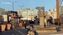 Police race to the scene of London Bridge incident as members of the public flee
