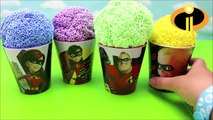 Disney Incredibles 2 Play Foam Surprise Toy Cups- Learn Colors for Kids Toddlers