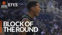 Efes Block of the Round: Wesley Johnson, Panathinaikos OPAP Athens