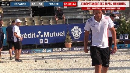 16ème FRANCE vs ESPAGNE : Europétanque des Alpes-Maritimes 2019