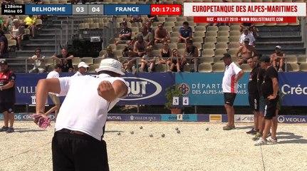 128ème FRANCE vs BELHOMME : Europétanque des Alpes-Maritimes 2019