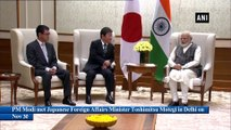 PM Modi meets Japanese Foreign and Defence Ministers in Delhi
