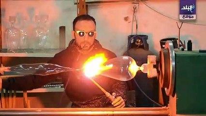 حرفيون يشبهون السحرة.. صناعة الزجاج اليدوي الإبداع بنفخة واحدة