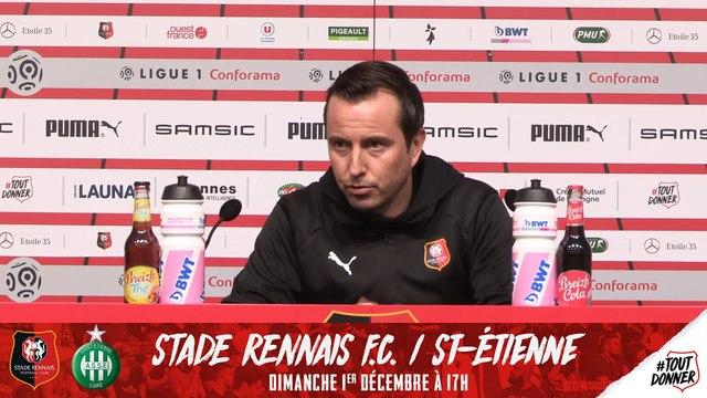 J15. #SRFCASSE. Le replay de la  conférence de presse de Julien Stéphan