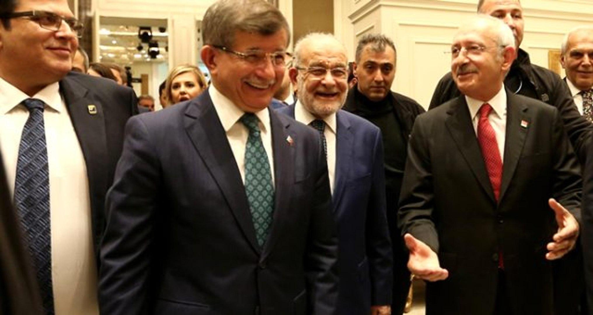 Kılıçdaroğlu, Davutoğlu'ndan övgüyle bahsetti, Davutoğlu alkışla karşılık verdi - Dailymotion Video
