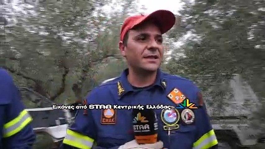 Εκτροπή αυτοκινήτου στη Λαμία.Απεγκλώβισαν τον οδηγό οι πυροσβέστες