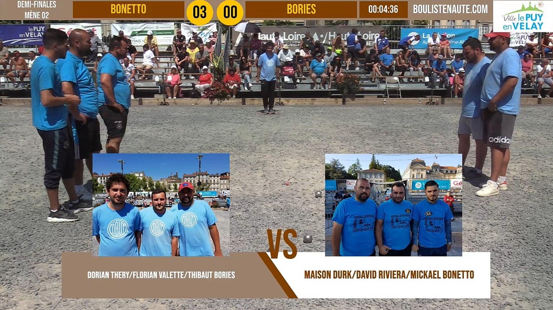 Demi-finale BONETTO vs BORIES : Supranational à pétanque du Puy-en-Velay été 2019