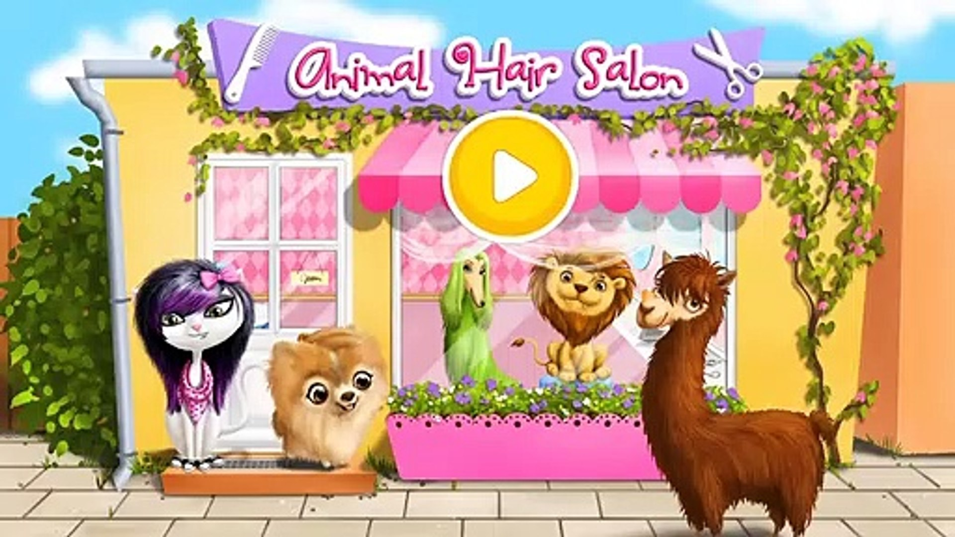 Animal Hair Salon Pet Care  Play Fun Furry Pets Style Hair Dress Up Makeover Games For Girls