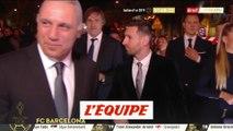 L'arrivée de Messi et de la délégation du Barça - Foot - Ballon d'Or
