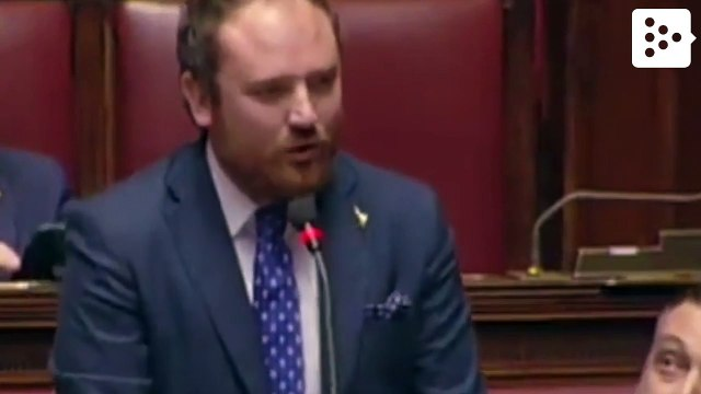 An Italian deputy asks his girlfriend to marry him in the parliament