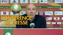 Conférence de presse Rodez Aveyron Football - Havre AC (1-2) : Laurent PEYRELADE (RAF) - Paul LE GUEN (HAC) - 2019/2020