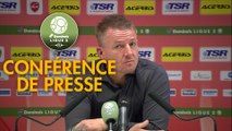 Conférence de presse Valenciennes FC - RC Lens (2-0) : Olivier GUEGAN (VAFC) - Philippe  MONTANIER (RCL) - 2019/2020