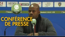 Conférence de presse FC Sochaux-Montbéliard - ESTAC Troyes (0-1) : Omar DAF (FCSM) - Laurent BATLLES (ESTAC) - 2019/2020