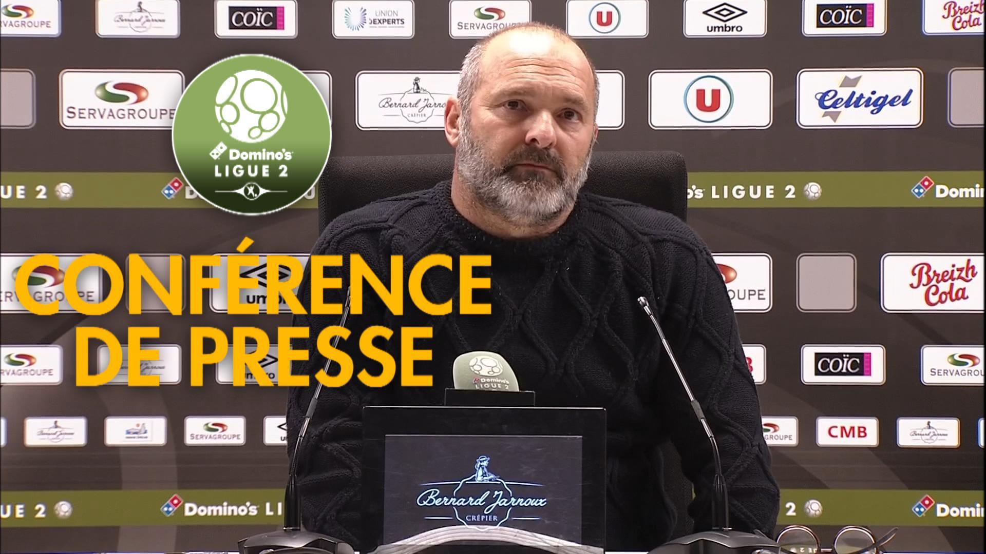Conférence de presse EA Guingamp - SM Caen (1-1) :  (EAG) - Pascal DUPRAZ (SMC) - 2019/2020